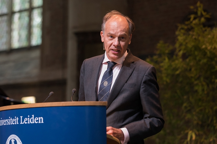Rector Magnificus Carel Stolker's closing speech held a message for students and staff: 'Look out for one another.'