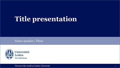 PowerPoint templates - Leiden University